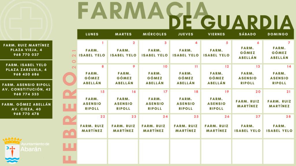 FARMACIAS FEBRERO
